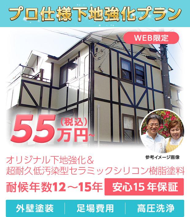 プロ仕様下地強化プラン 55万円~